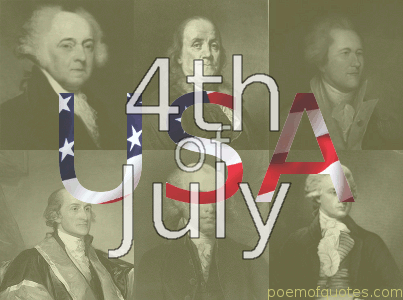 4th of July with founding fathers
