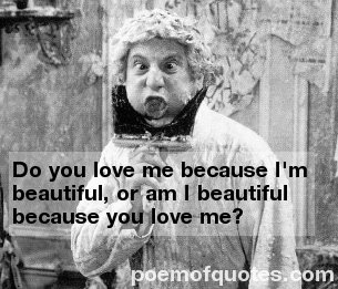 A quote with a Harpo Marx picture.