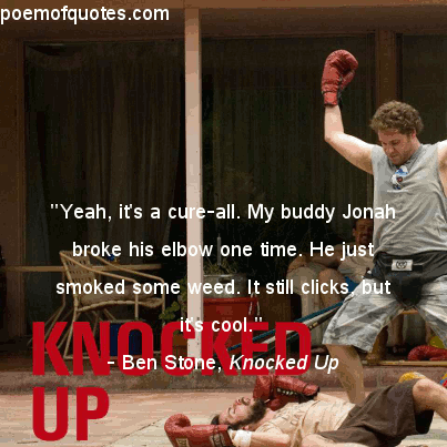A quote from Knocked Up.