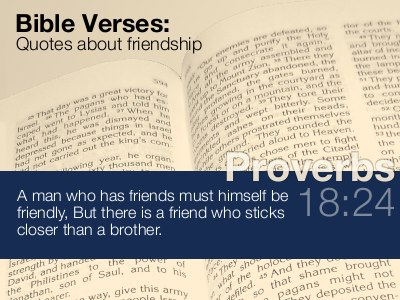 Proverbs 18:24 Bible quote